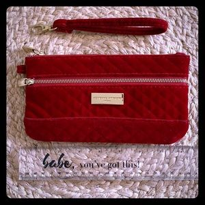 Adrienne vittadini Red Quilted Wristlet